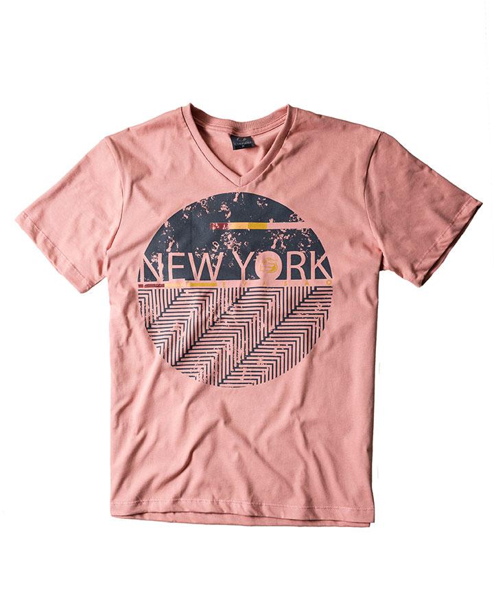 453ae0f67d Camiseta Gola V Estampada    Evasão - Atacado de Moda Masculina